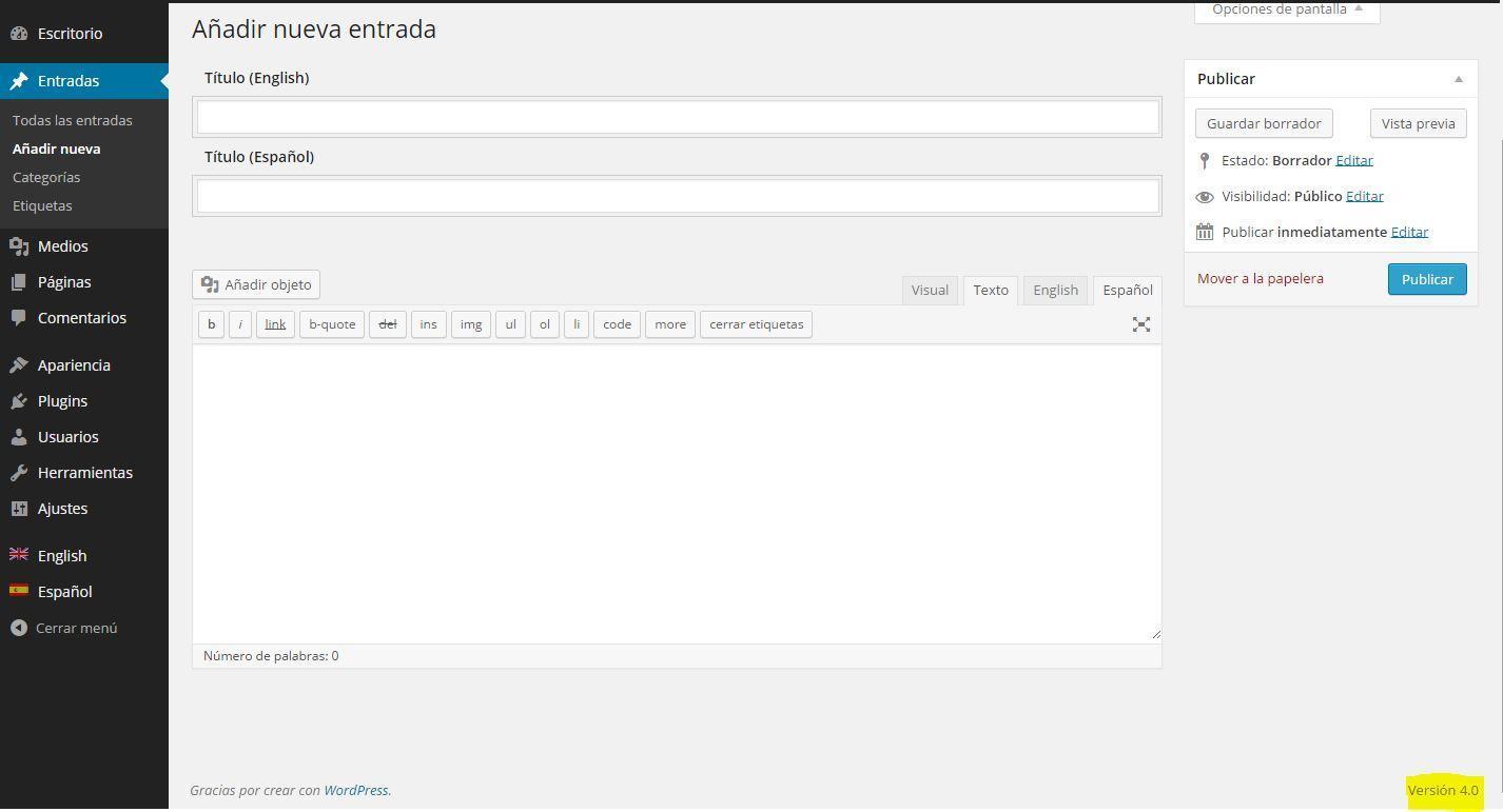 qtranslate en wordpress 4.0