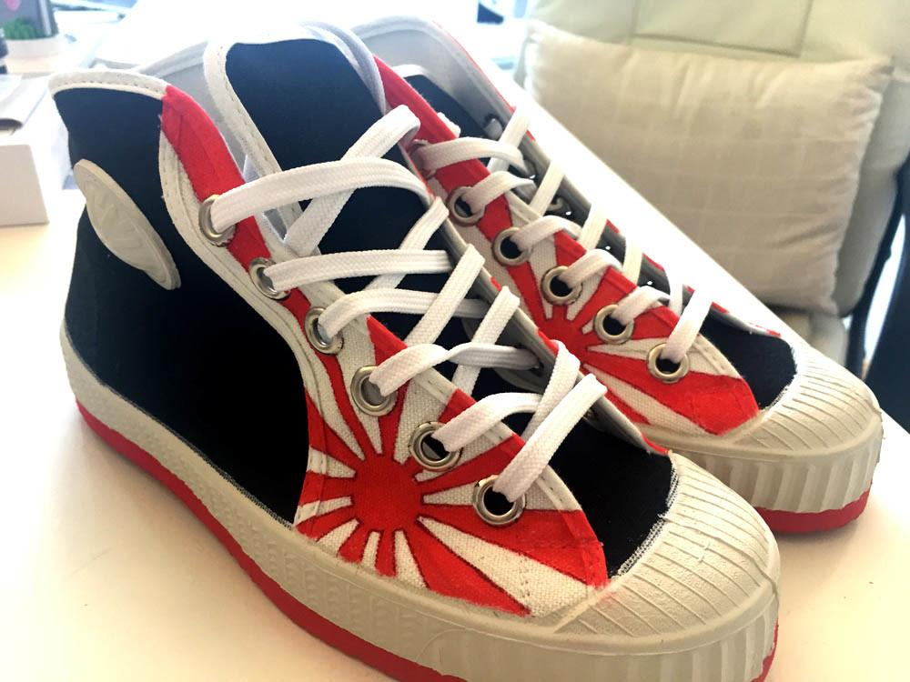 """Zapatillas """"Cebo"""" personalizadas """"Sol Naciente"""""""