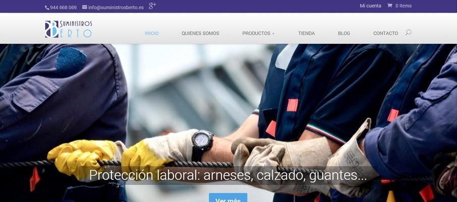 web de sumnistros berto por poison estudio en bilbao