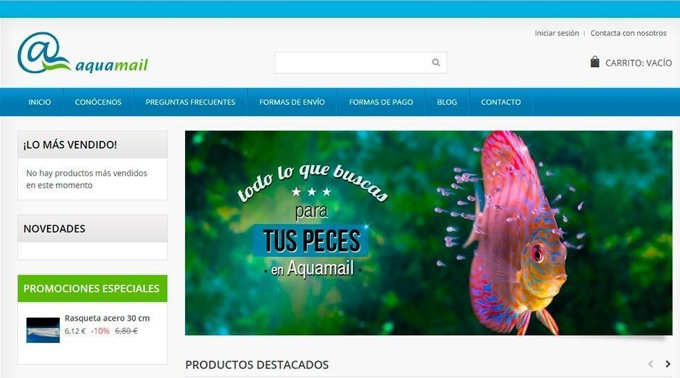 Página web de Aquamail