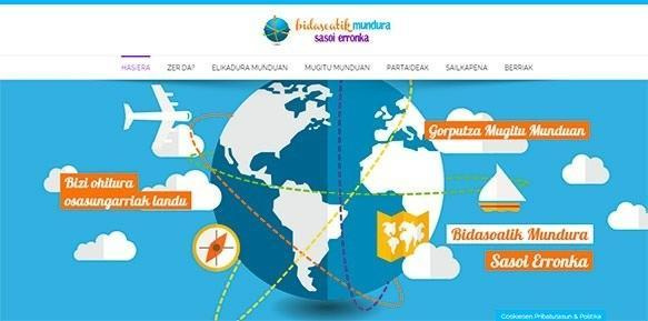 Página web Bidaosiatik Mundura