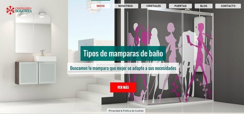 página web Cristalería Bolueta