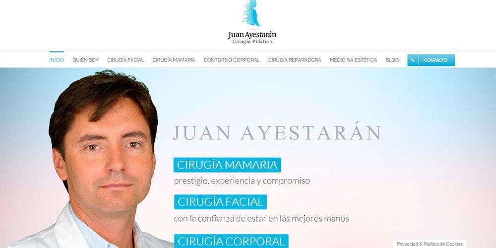 Página web Juan Ayestaran Cirugía Plástica