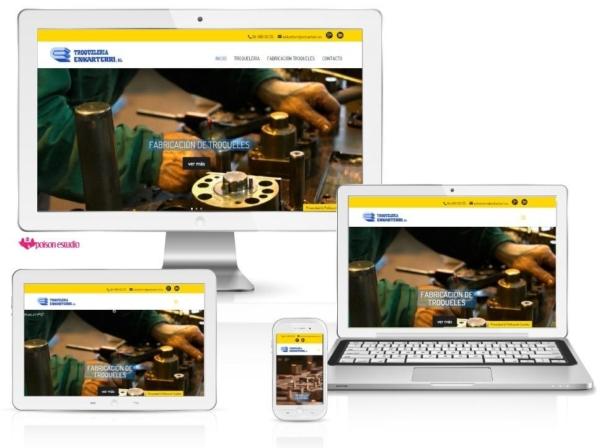 Página web Troquelería Enkarterri