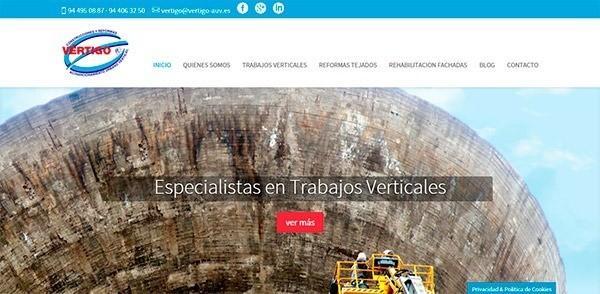Página web Vértigo
