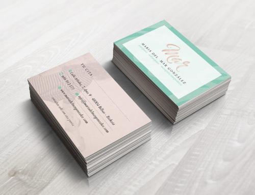 Diseño de tarjetas de visita para Maria del Mar González