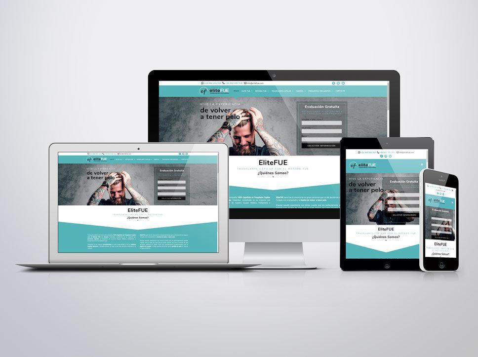 Diseño y maquetación web para EliteFue