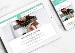 Diseño web para María del Mar González