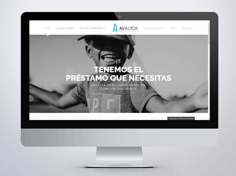 Web para Avalyca diseñada por Poison Estudio