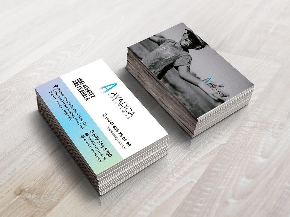 Diseño tarjetas de visita para Avalyca por Poision Estudio