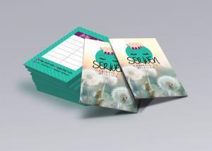 Diseño de tarjetas de visitas para Serwen por Poison Estudio