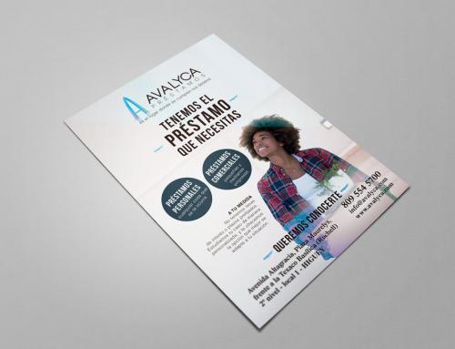 Diseño de flyers para Avalyca.