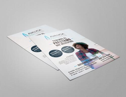 Diseño gráfico de imagen corporativa para Avalyca, entidad financiera
