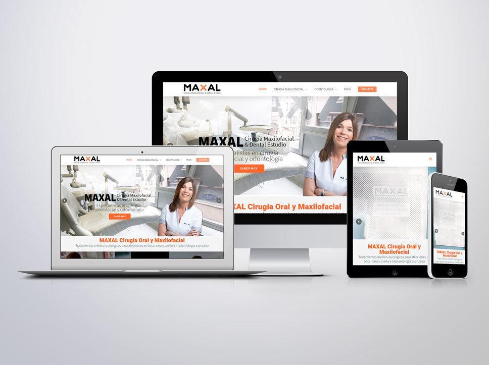 Diseño página web para Maxal por Poison Estudio