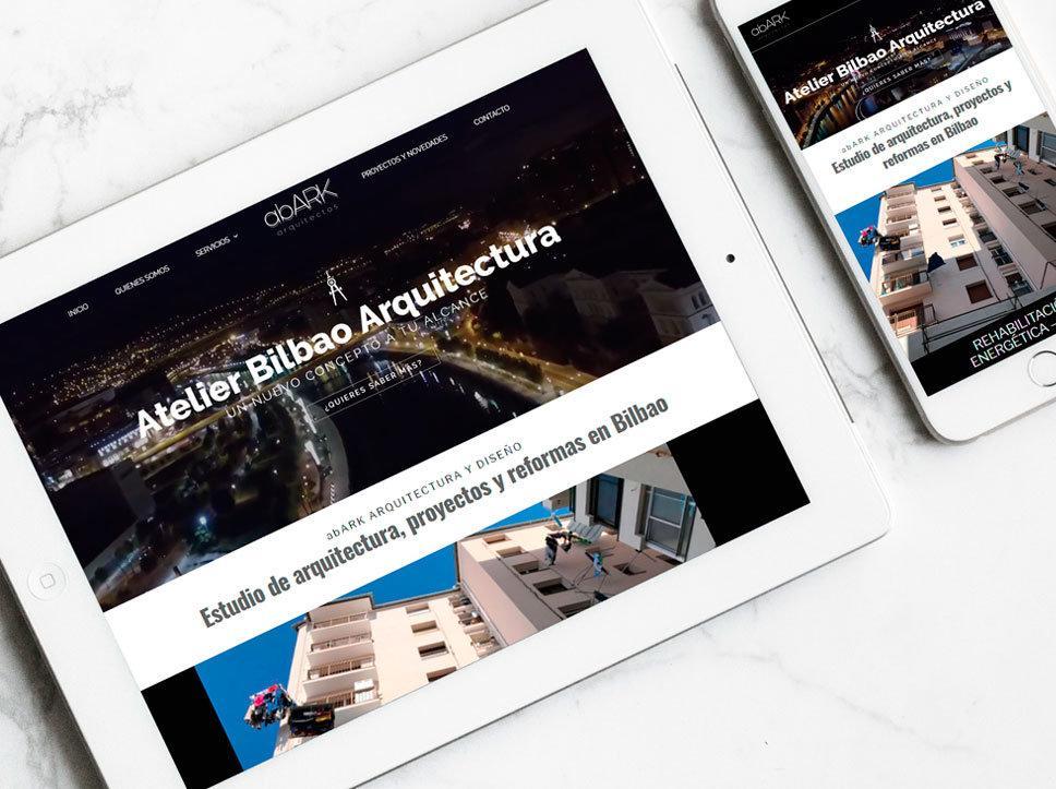 diseño página web para Abark Arquietectos por Poison Estudio