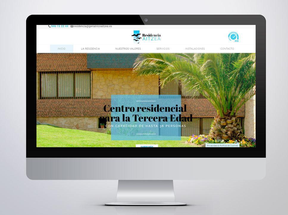 Diseño web para Aitzea Residencia por Poison Estudio