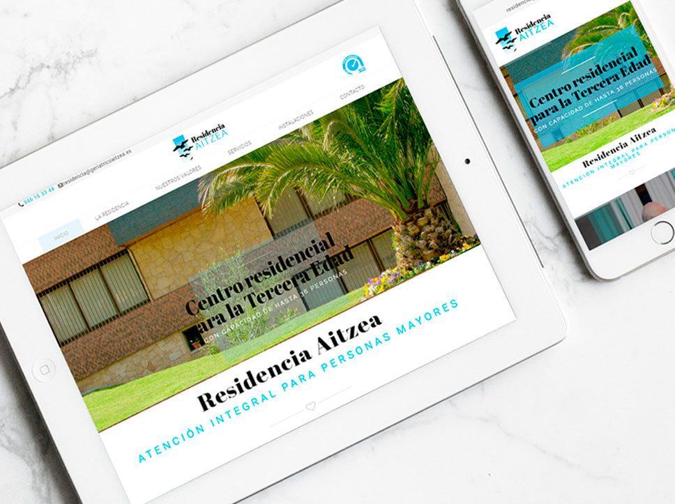 Diseño página web para Aitzea Residencia por Poison Estudio