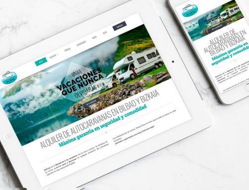 Página web para Alquiler de Autocaravanas Bilbao.