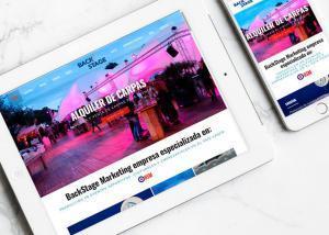 Diseño y maquetación de página web para Back Stage por Poison Estudio