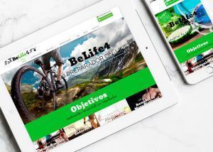 Diseño página web para Belife4 por Poison Estudio