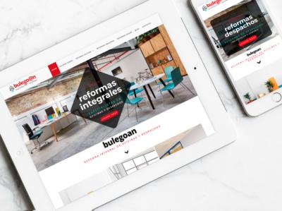 Diseño web para Bulegoan por Poison Estudio