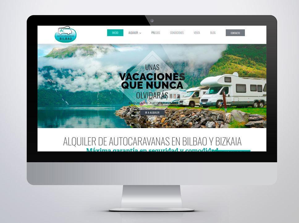 Diseño página web para Autocaravanas Bilbao por Poison Estudio