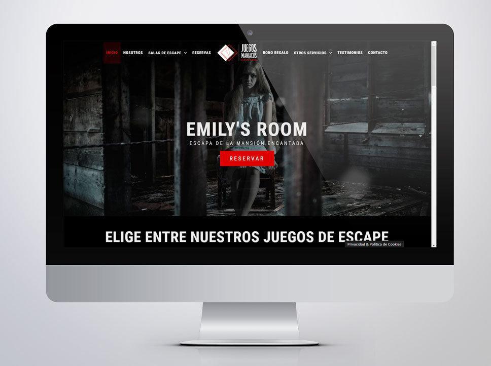 Web para Juegos Maníacos diseñada por Poison Estudio