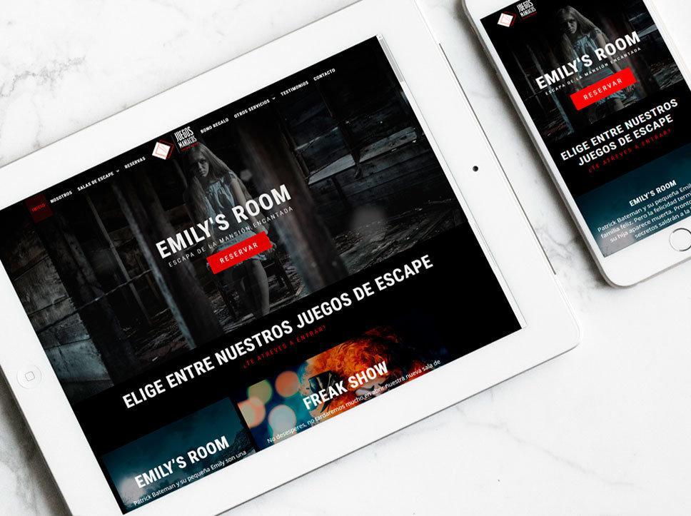 Diseño y maquetación de página web para Juegos Maníacos por Poison Estudio