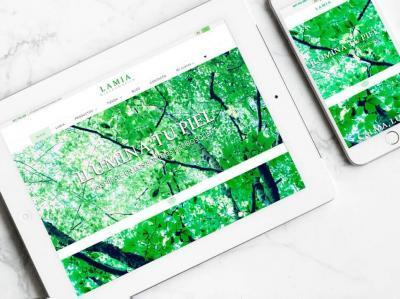 Diseño de página web para Lamia Biocosmética por Poison Estudio