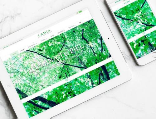 Página web para Lamia Biocosmética.