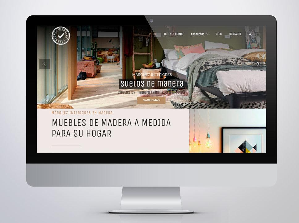 Diseño página web para Márquez Interiores por Poison Estudio