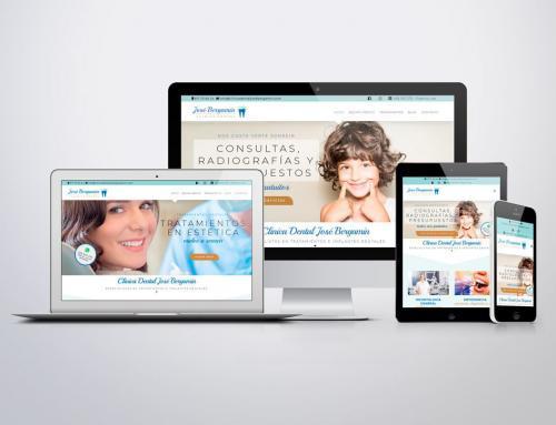 Página web para clínica dental José Bergamín