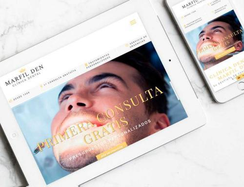 Página web para clínica dental Marfil Den.