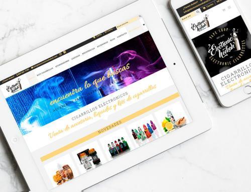 Página web para Electronichookahrd