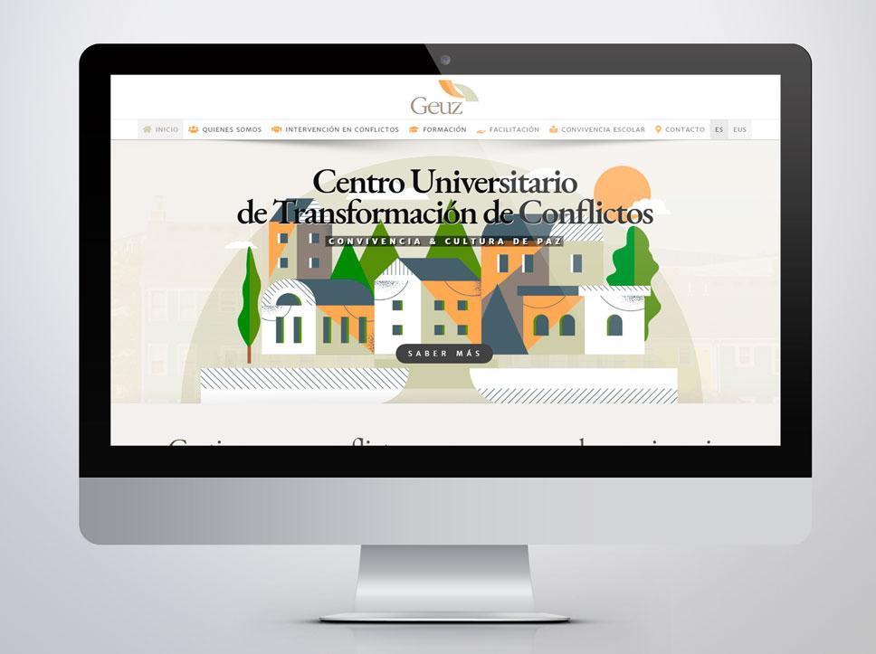 Diseño de página web para Geuz