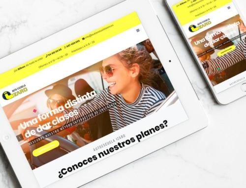 Página web para Autoescuela Izaro