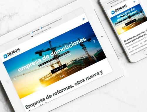 Página web para Reformas Demon