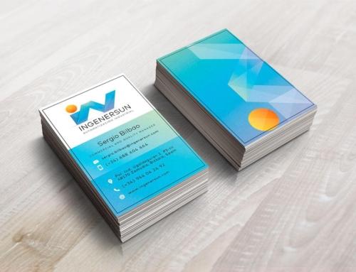 Diseño de tarjetas de visita para Ingenersun.