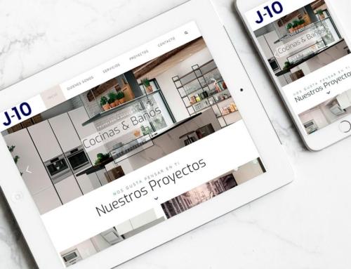 Página web para Cocinas y baños J10