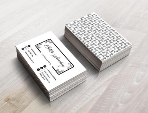 Diseño de tarjetas de visita para Edita Sánchez