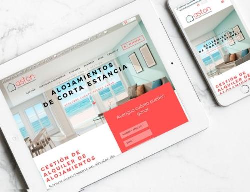 Página web para Aston Rentals