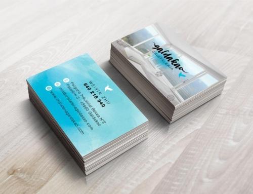 Diseño de tarjetas de visita para Cristalería Galdakao