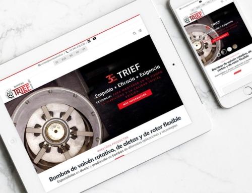 Página web para Bombas Trief